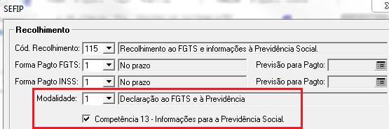 SEFIP competência 13: deve ser declarada até 31/01/2011
